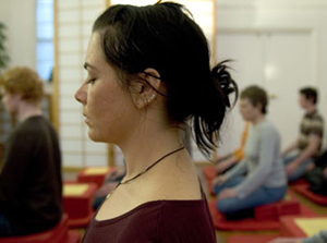 Meditation class in Clapham. Photo by Thierry Bal